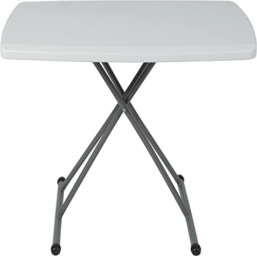 Best Choice Products 30x20in Indoor Outdoor Portable Adjustable High Personal Folding Table – White