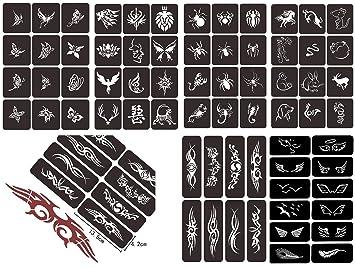 Amazon Com Henna Tattoo Stencil Kit Self Adhesive Temporary