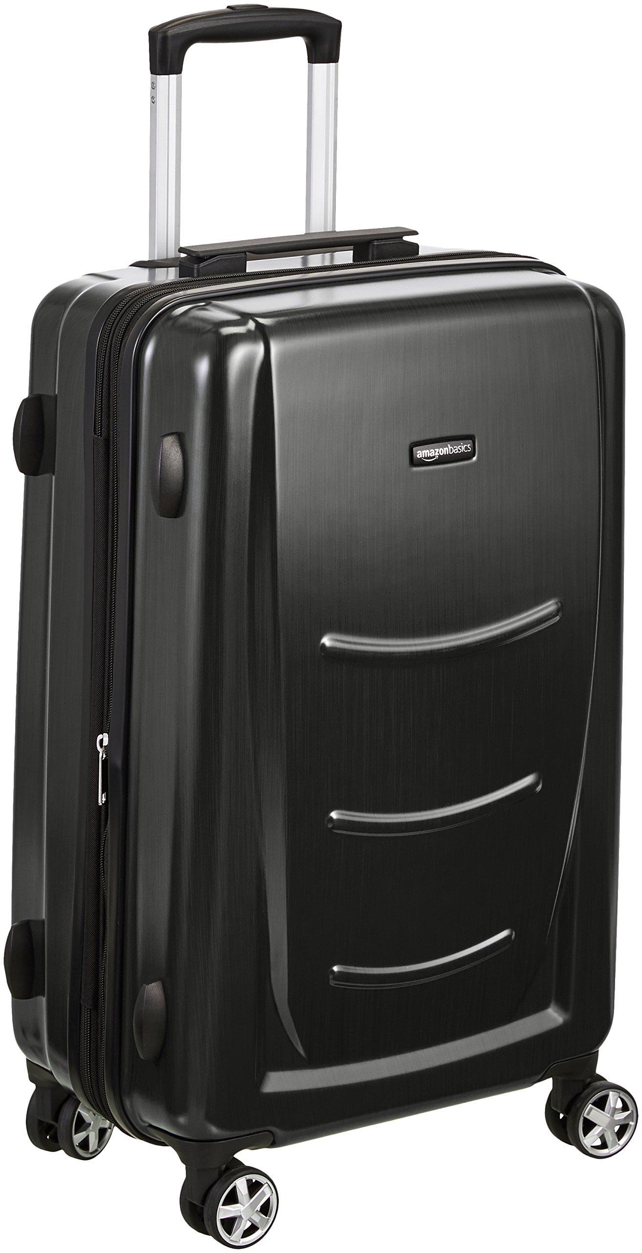 AmazonBasics Hard Shell Carry On Spinner Suitcase Luggage - 28 Inch, Slate Grey