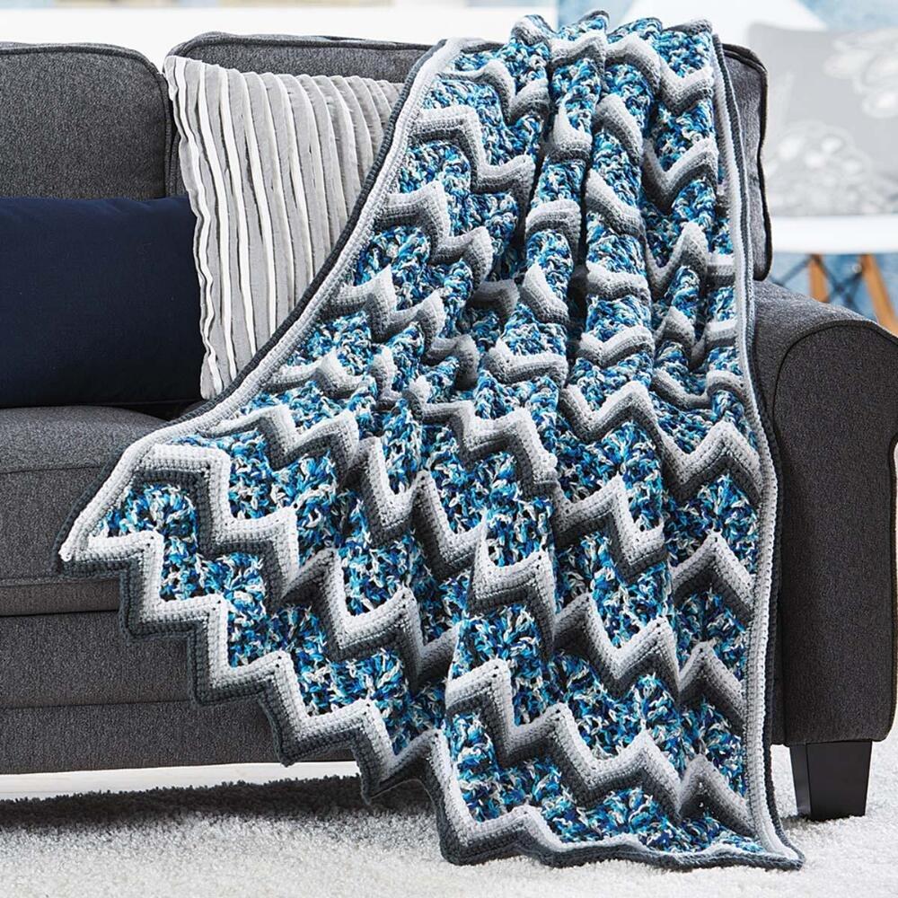 Herrschners® Glacier Ripple Afghan Kit