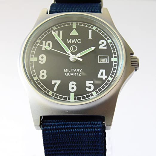 69c2a7250db MWC G10 LM Military Watch with Navy Blue Nato Strap  Amazon.co.uk  Watches