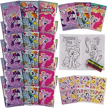 Amazon.com: Set Of 15 Teenage My Little Pony Play Packs Fun Party ...