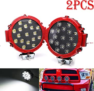 """6X 7/""""inch 51w Spot Round LED Work Light Offroad Fog Driving Boat Jeep Bumper 4WD"""