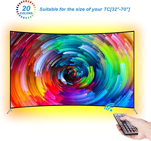 LEBRIGHT Led TV Tira 300cm Bias Iluminación Behind 60 65 70 pulgadas HDTV USB LED Tira