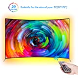 LEBRIGHT TV LED posteriore di illuminazione Kit 300cm Bias Illimitazione con Telecomando dietro 60 65 70 pollici HDTV USB LED Light Strip TV Montaggio a parete Movie Theatre Decor Mood Lights, RF Remote, 20 colori