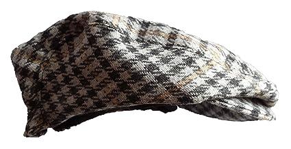 957722bd0 Baby boys grey beige large check wool flat cap (0-3 months): Amazon ...