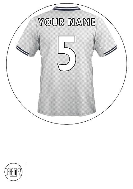 Personalizable con diseño de barco de camiseta de fútbol Tottenham Hotspur comestibles juego de boquillas para