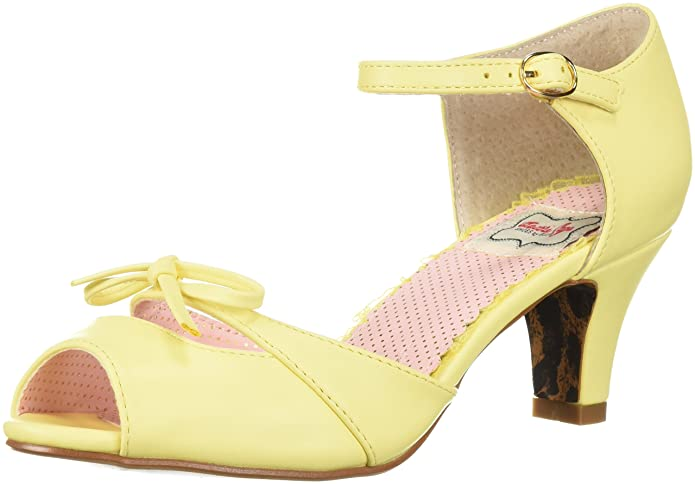 Vintage Style Shoes, Vintage Inspired Shoes Bettie Page Womens Bp250-tegan Heeled Sandal $78.59 AT vintagedancer.com