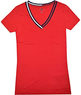 2d59c06c95b24b Amazon.com  Tommy Hilfiger Women s Big Logo Line T-Shirt  Clothing