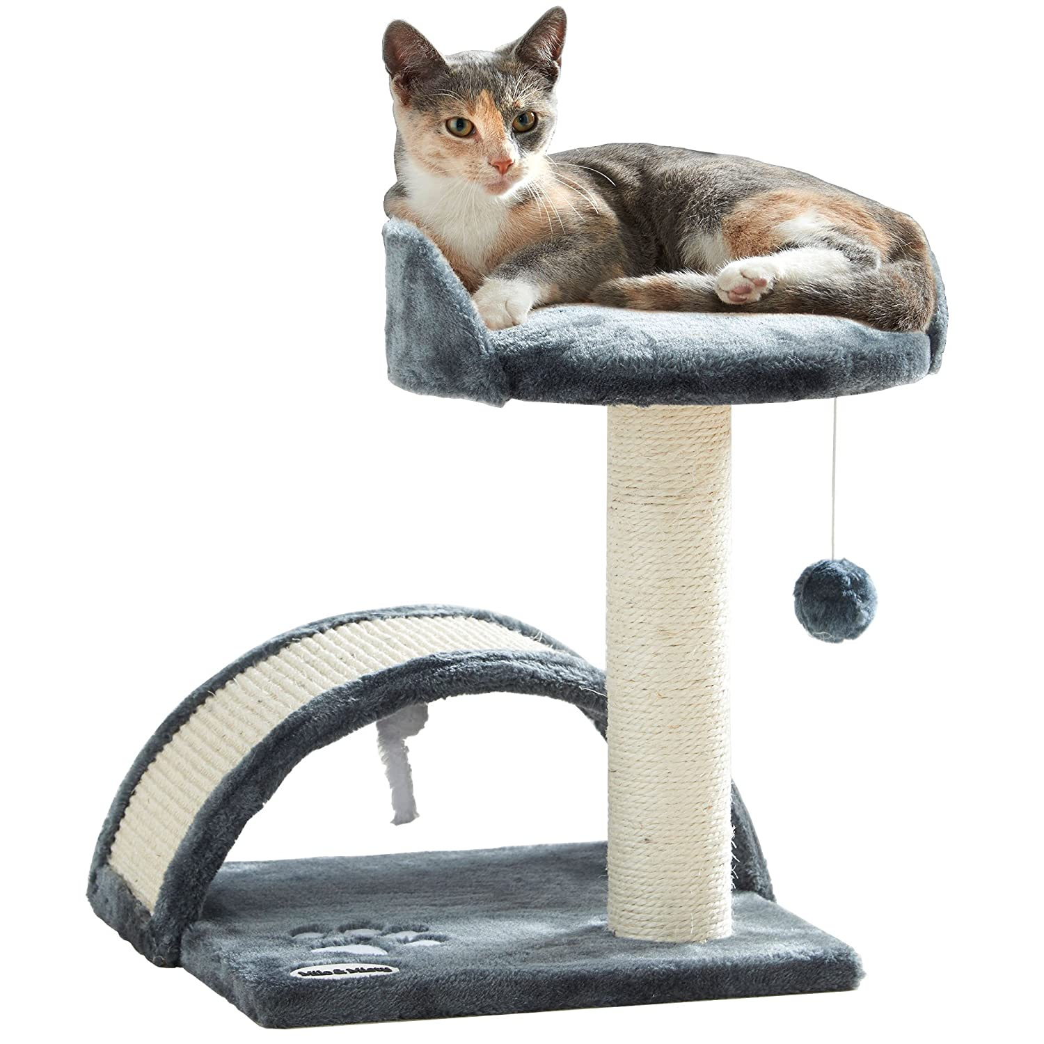 Milo & Misty Cat Bed and Scratching Post Activity Tree with Toys