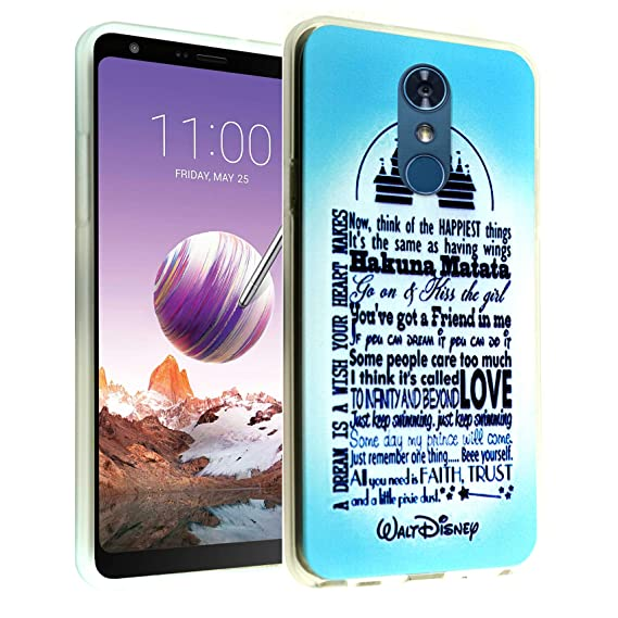 LG Stylo 4 Case Dream Love Quotes,DURARMOR FlexArmor Rubber Flexible Bumper  Shockproof Ultra Slim TPU Case Drop Protection Cover for Stylo 4- Disney