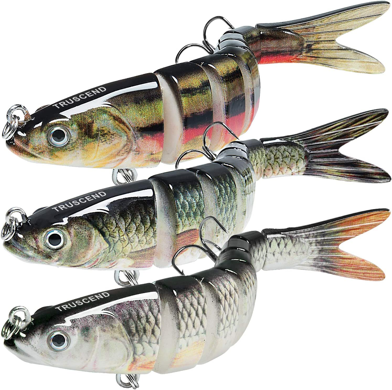 TRUSCEND Fishing Lures for Bass Trout Lifelike Kit