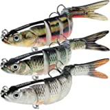 """TRUSCEND Fishing Lures for Bass Trout 4.7~7"""" Multi Jointed Swimbaits Slow Sinking Bionic Swimming Lures Bass Freshwater Saltwater Bass Fishing Lures Kit Lifelike"""