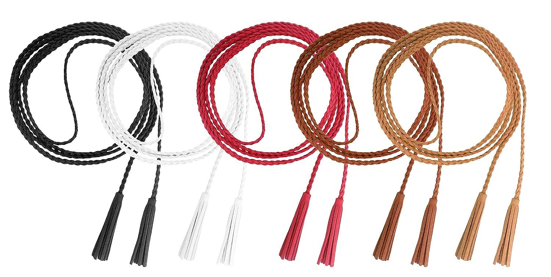 Nanxson Cinturón de mujer Cintura de niña Cadena de cuero Borla Cinturón Cuerda Joyas de punto para camisa de abrigo PDW0042