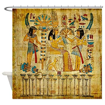 CafePress   Ancient Egypt Wall Scroll Tapestry Heiropglyphics   Decorative  Fabric Shower Curtain Part 52