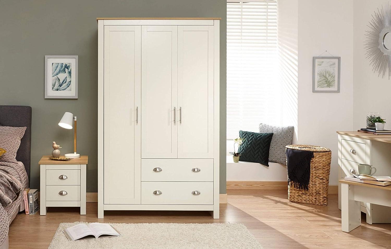 Lancaster Grey, Cream Bedroom Furniture - Sets, Wardrobes, Chests, Bedside,  Desk#8 DOOR 8 DRAWER WARDROBE CREAM