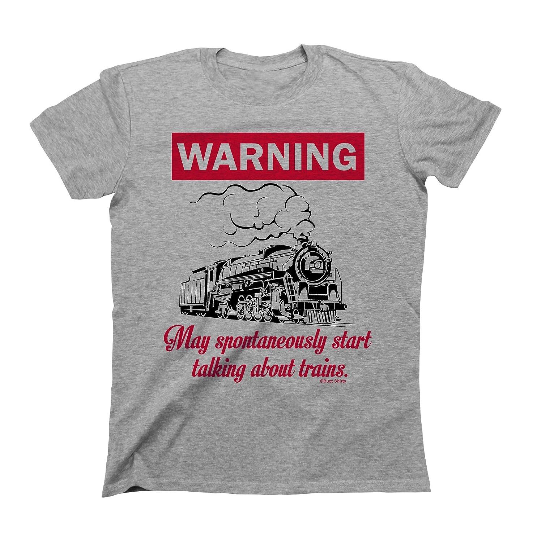 WARNING May Spontaneously Start Talking About TRAINS T-Shirt Boys Girls Buzz Shirts
