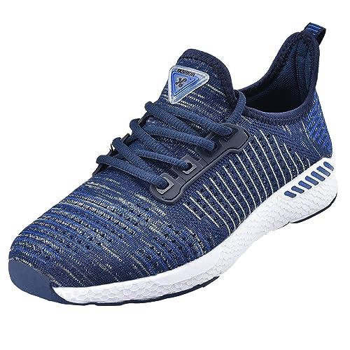 NEOKER Zapatillas de Running Calzado Deporte para Hombre Mujer Gimnasio Ligero Sneakers Negro36-46: Amazon.es: Zapatos y complementos