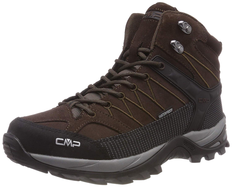 CMP Rigel - Zapatillas de Trekking y Senderismo de Cuero Hombre 40 EU Marrón (Wood-adriatico 61bn)