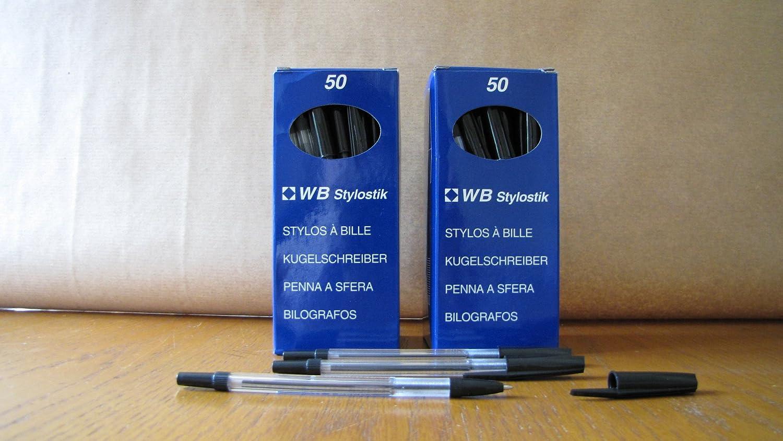 Black Biro Pens Pack of 100 Stylostik