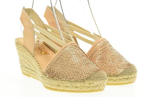 VIDORRETA Mujer Calza Las Sandalias de cuña Alpargatas 18400 Naturales Talla 38 Naturale: Amazon.es: Zapatos y complementos