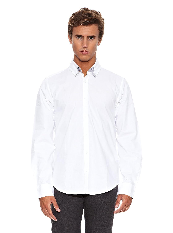 Springfield Camisa Ro 2 Cuello Dobby Fantasy Blanco L: Amazon.es ...