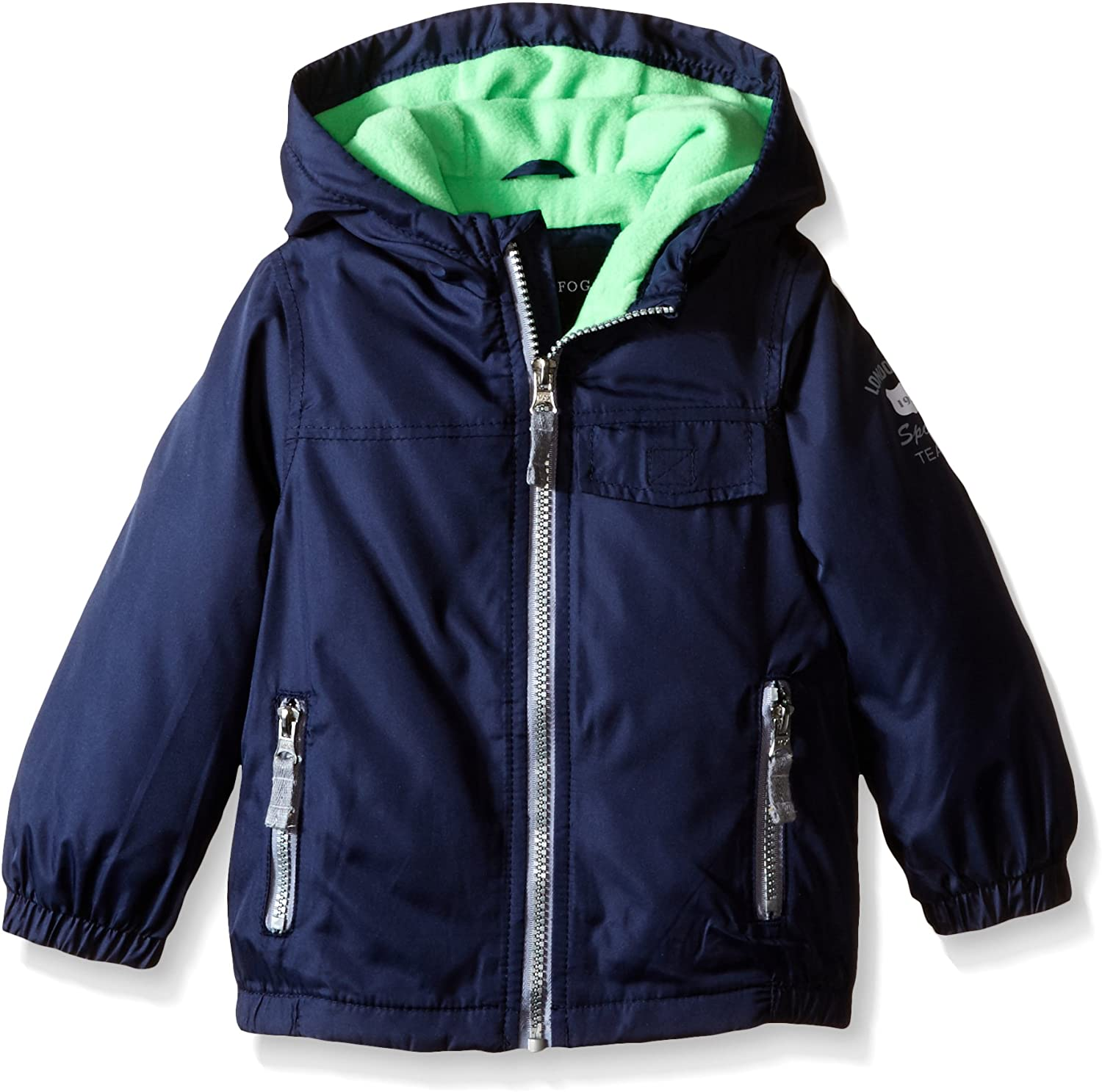 LONDON FOG Boys' Fleece Lined Windbreaker Jacket