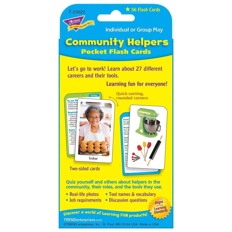 amazon com community helpers u0026 careers pocket flash cards office