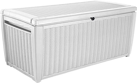Keter - Arcón exterior Pool Box XXL, Capacidad 511 litros, Color blanco: Amazon.es: Jardín