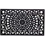 DII Rubber Doormats Collection All Weather, 18x30, Sun Scroll