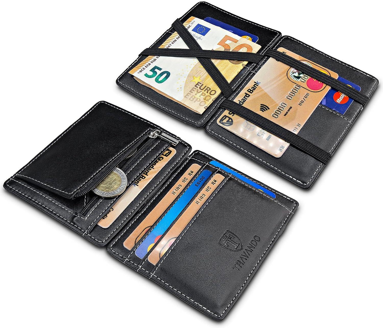 007de781eac28 ... TRAVANDO ® Magic Wallet mit Münzfach Vegas Geldbörse Herren klein Slim  Portemonnaie Mini Wallets for Men ...