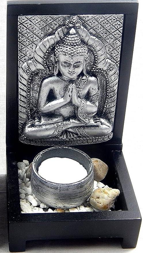 Liegend Boltze Dekoration Yoga Frosch Figur Skultpur Silber 25 cm XL