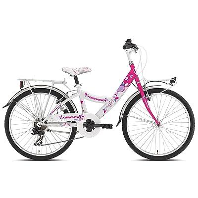 """'Torpado vélo Junior Fille Kelly 24""""6V Blanc Rose (enfant)/Bicycle Junior Girl Kelly 246V White Pink (Kid)"""