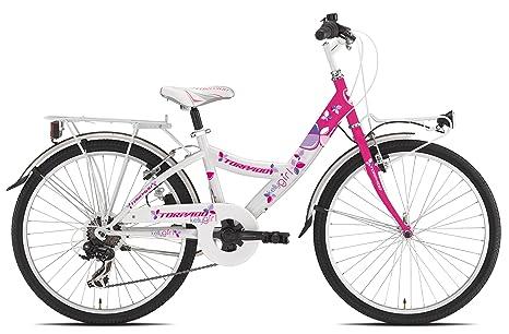 Torpado Bici Junior Bimba Kelly 24 6v Bianco Rosa Bambino