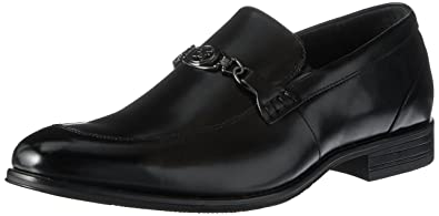 Stacy Adams Men's Spencer-Moc Toe Bit Slip-On Loafer, Black, 7