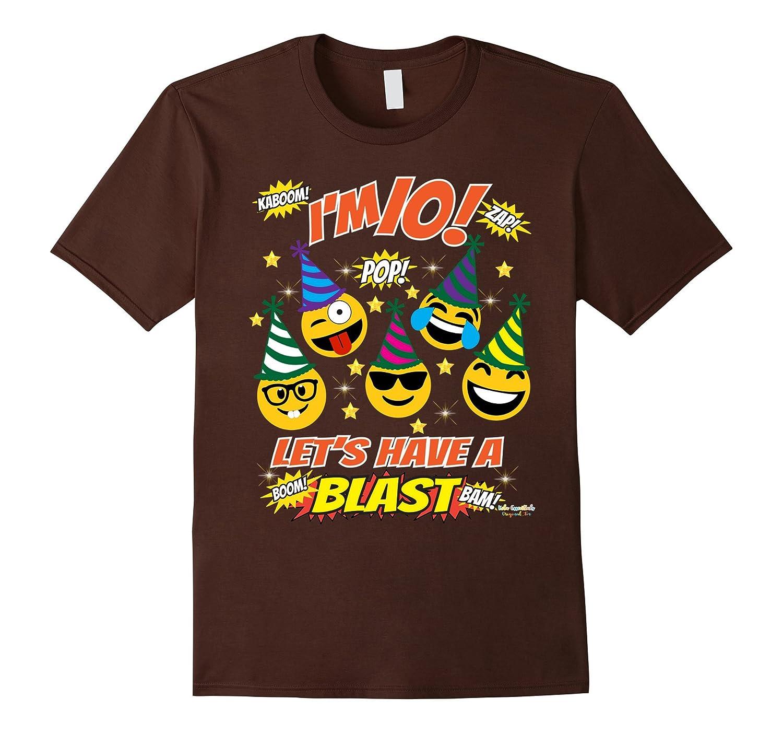 Emoji Birthday Shirt For 10 Year Old Boy Girl Have A Blast TH