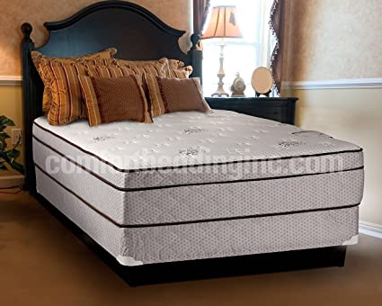Queen size mattress and box spring Regular Profile Foundation Image Unavailable Amazoncom Amazoncom Dreamy Rest Pillow Top euro Top Queen Size Mattress