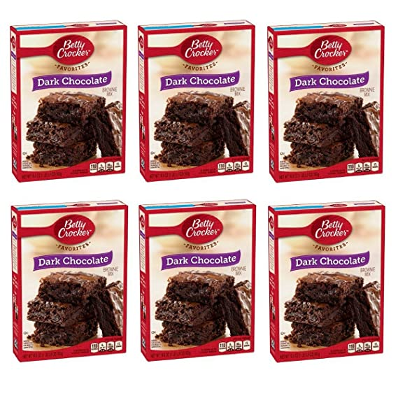 Betty Crocker Dark Chocolate Brownie Mix, 19.9 oz (Pack of 6)
