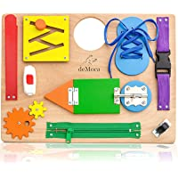 Montessori Busy Board for Toddlers - Wooden Sensory Toys - Toddler Learning Activities for Fine Motor Skills Travel Toy…