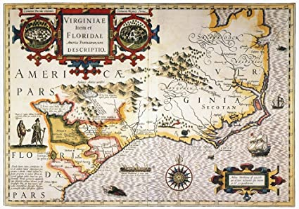 Colonial American Map.Amazon Com Map Colonial America N1606 Map Of The American Southeast