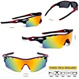 RIVBOS 801 POLARIZED Sports Sunglasses with 5