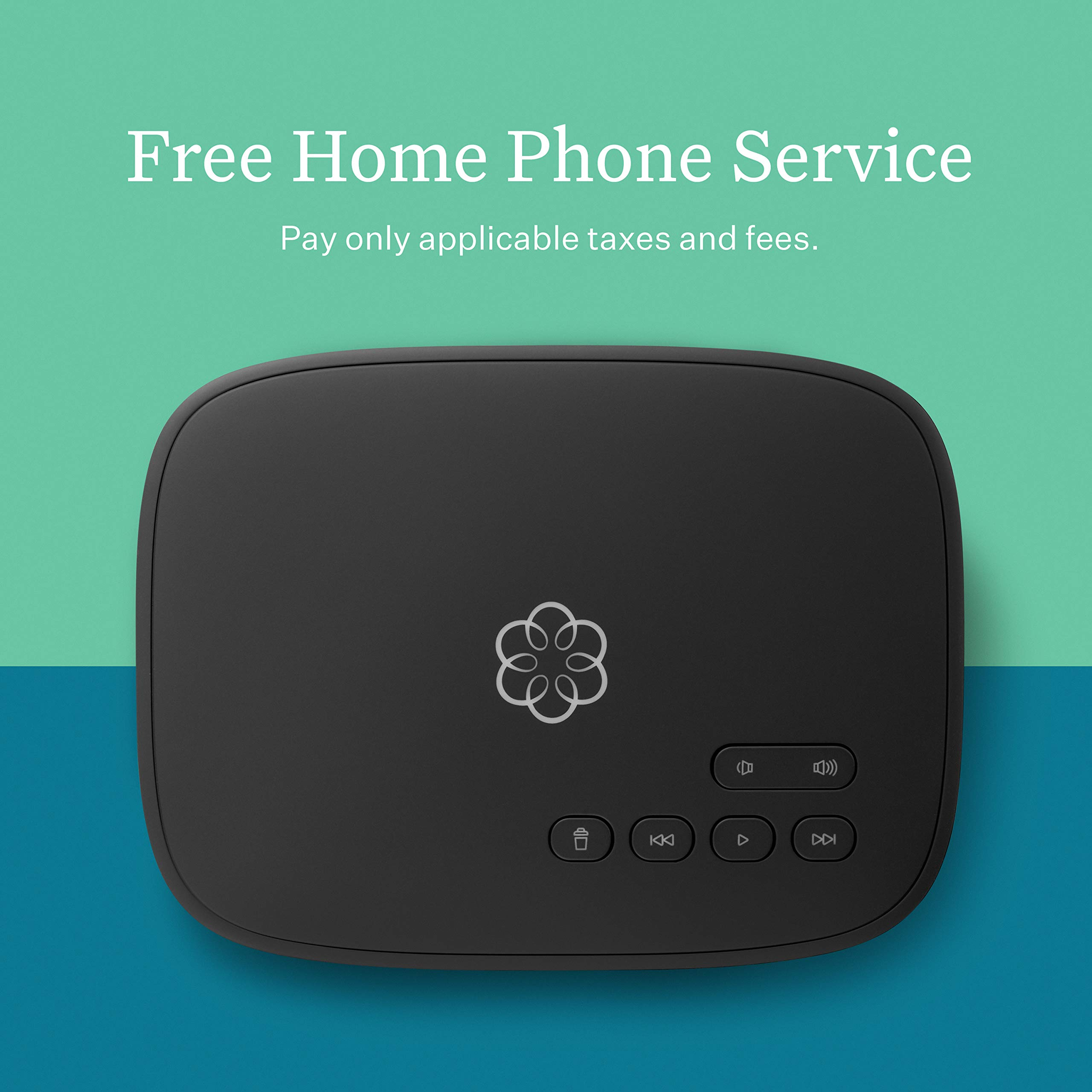 Ooma Telo Free Home Phone Service. Blocks Robocalls with Optional Premier Service, One Size, Black by ooma