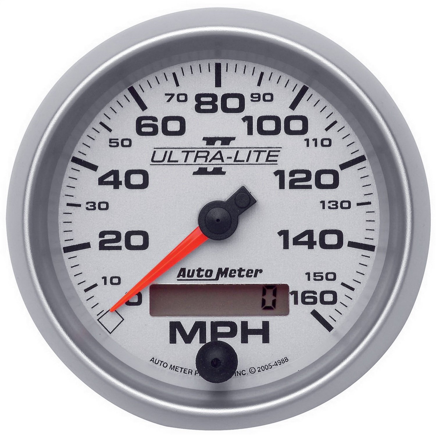 Auto Meter 4988 Ultra-Lite II 3-3/8' 160 mph In-Dash Electric Programmable Speedometer