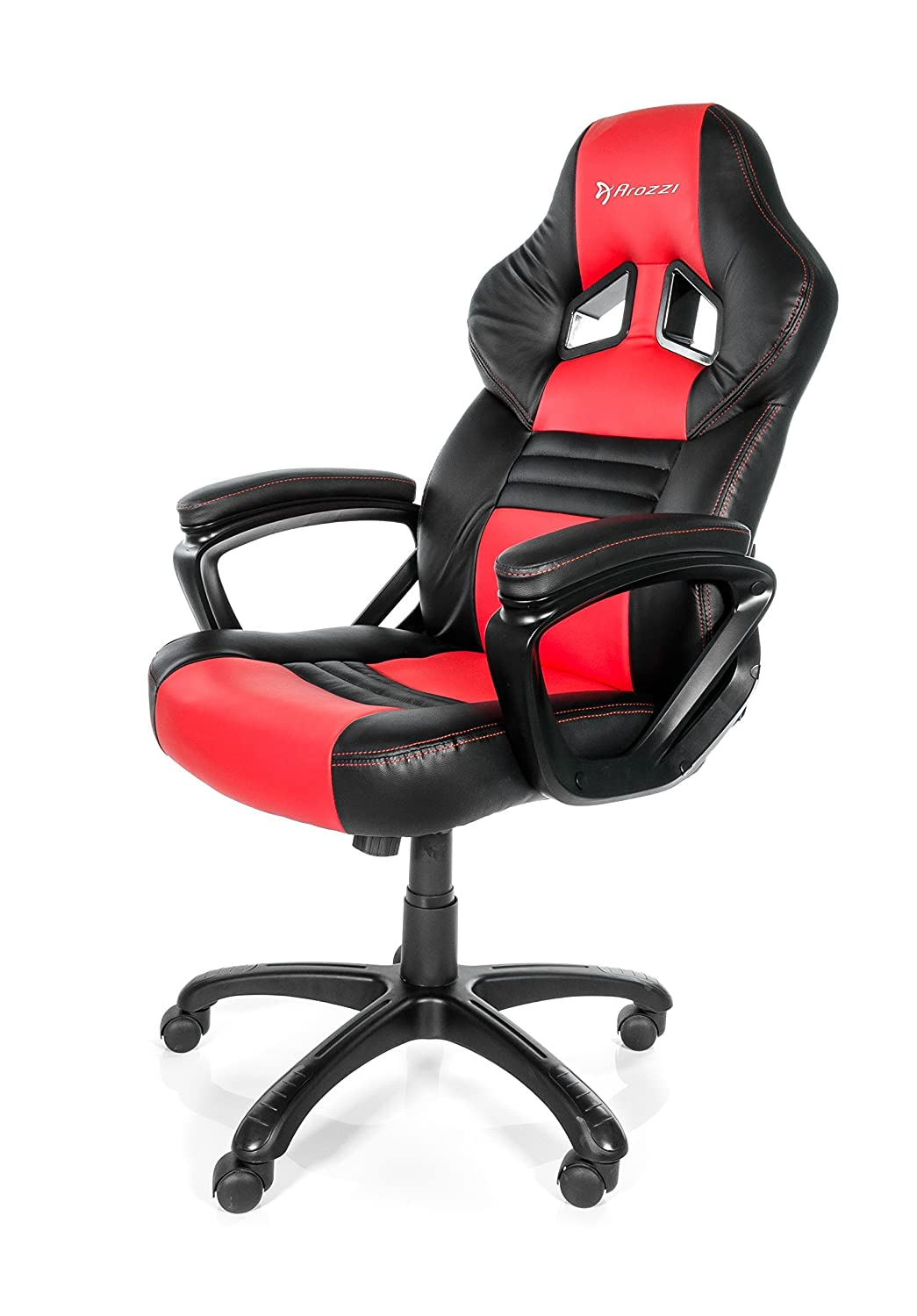 Arozzi Monza Series Gaming Racing Style Swivel Chair, Red/Black MONZA-RD