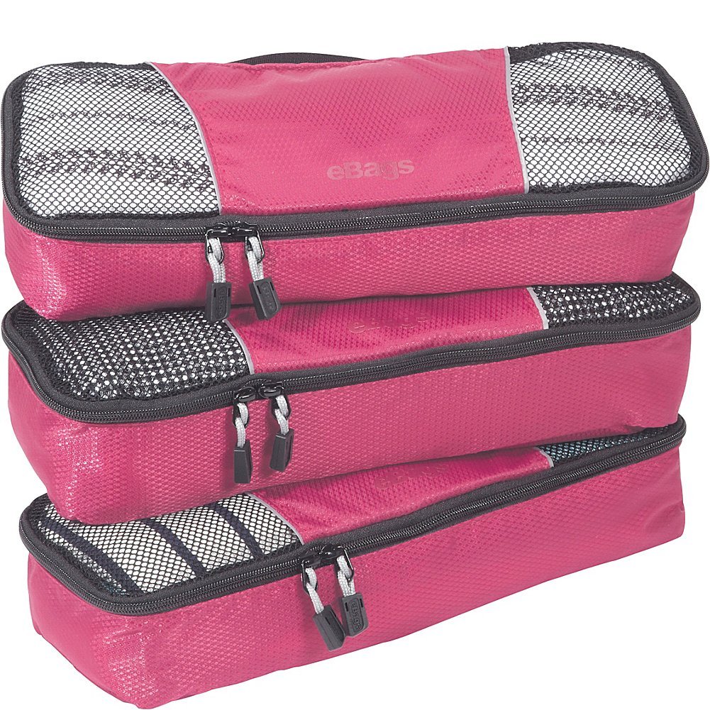 eBags Slim Packing Cubes - 3pc Set (Peony)