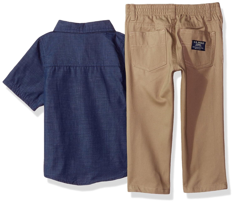 T-Shirt and Pant Set U.S Boys Toddler Short Sleeve Polo Assn