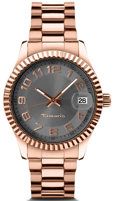 Tamaris Damen-Armbanduhr Debby Analog Quarz Edelstahl B07202030
