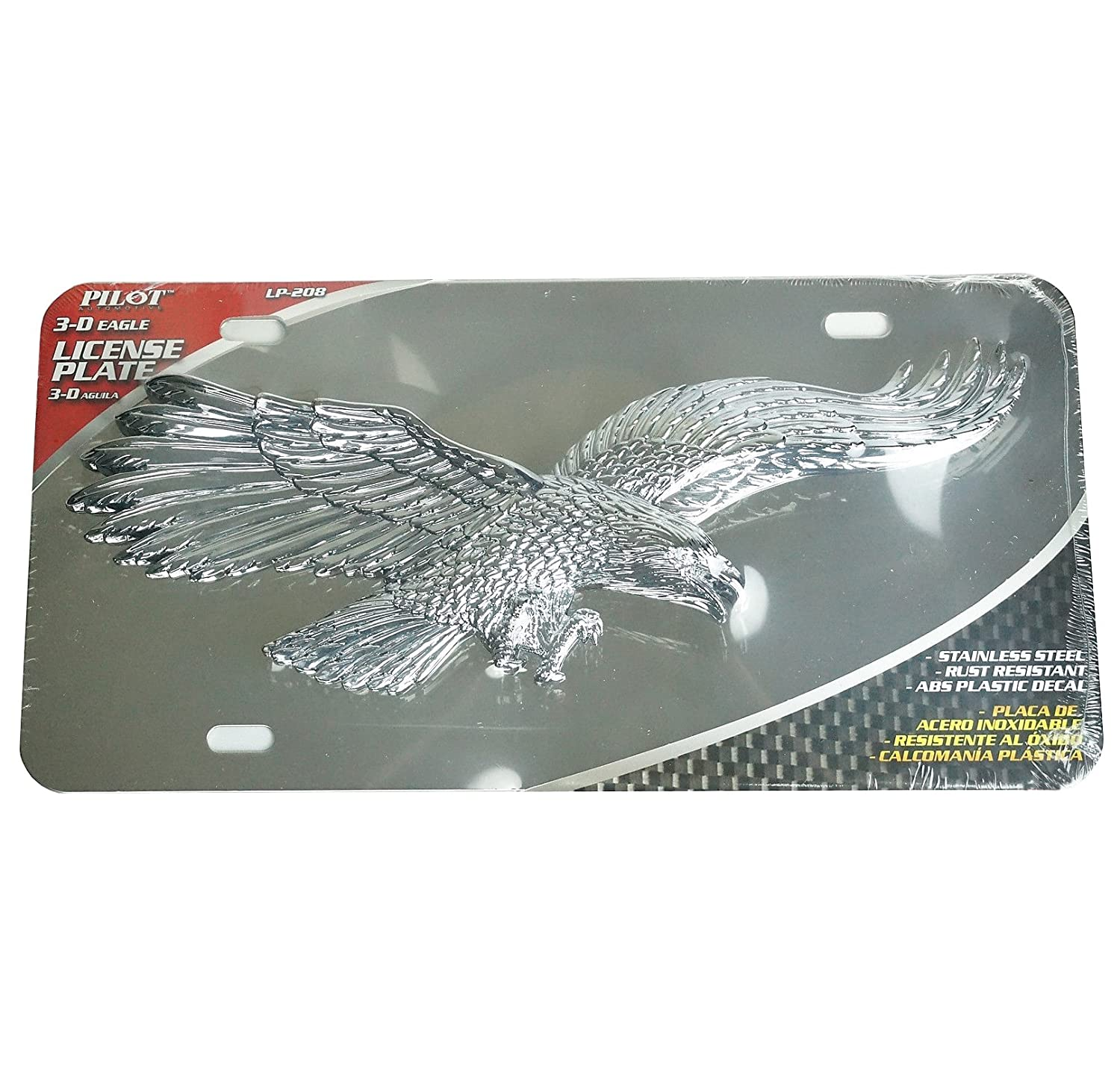 Amazon.com: 3D Pop Out Flying Eagle Chrome Plating Stainless ...