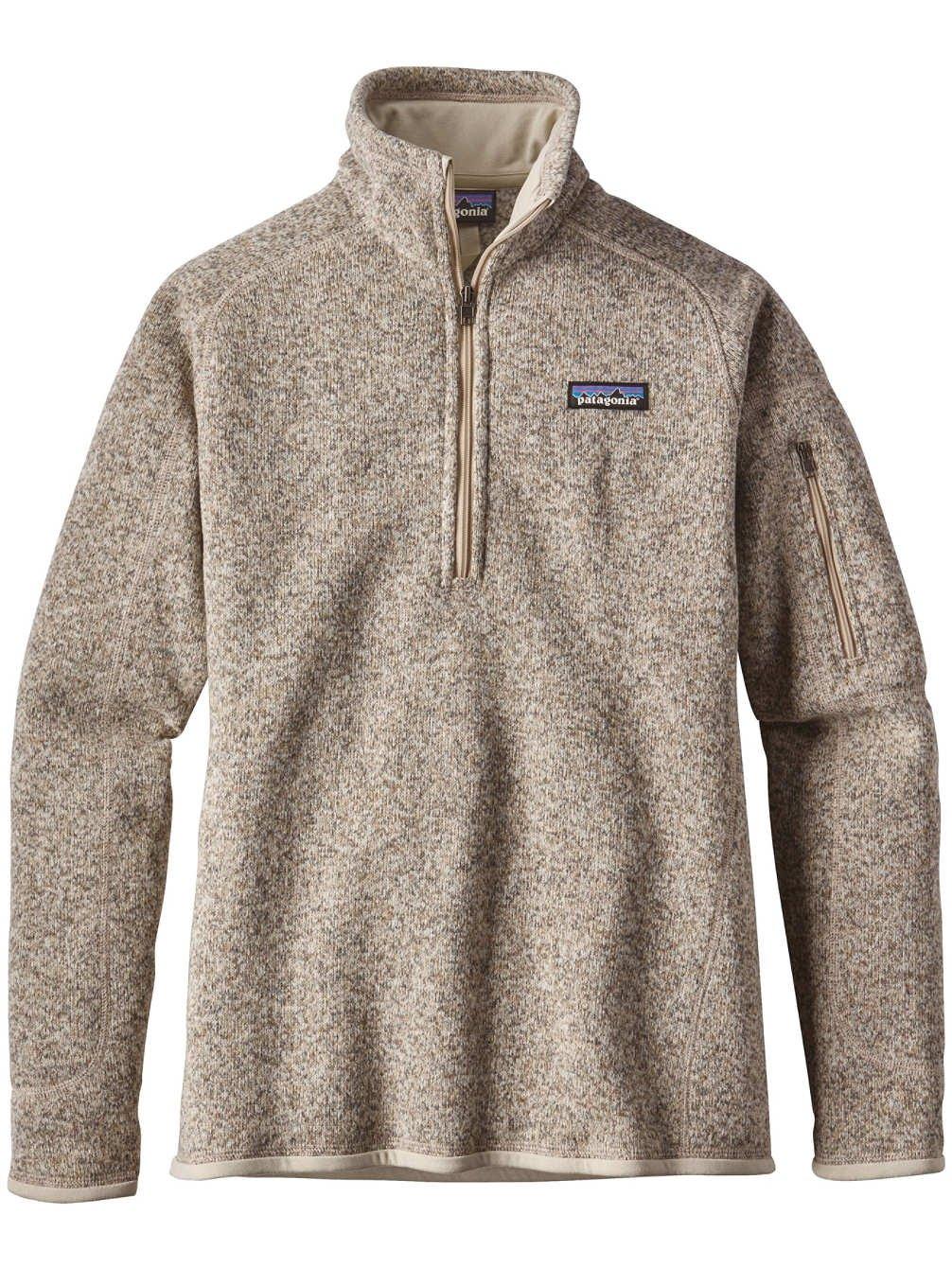 Patagonia Women's Better Sweater 1/4-Zip Fleece (Small, Pelican)