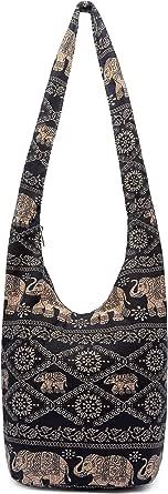 Women Shoulder Handbags Fashion canvas Hippie Crossbody Bags Bohemian Animal Prints Hobo Bags